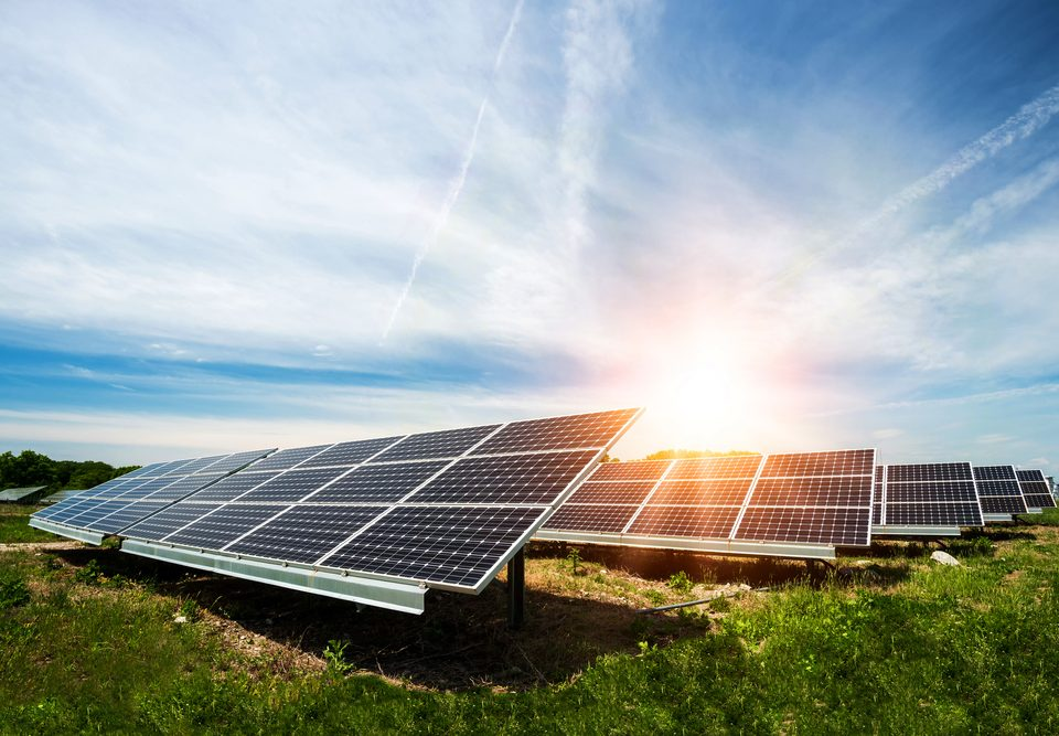 Off-Grid With PV Panels And Battery